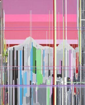 刘韡 《紫气系列 H2》 2008 220.3×108.3cm 估价140万至250万港元 成交价340万港元