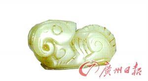 晋侯墓地63号墓出土的晋侯墓玉羊   (山西省文物考古研究所藏)