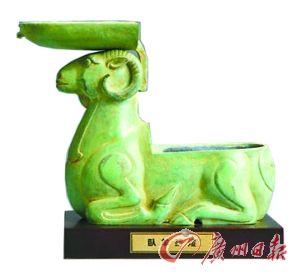 汉 卧羊铜灯(河北省博物馆藏)