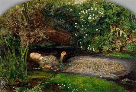 图注:水中的奥菲莉娅