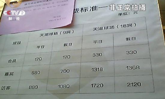 """太原长风高尔夫球场牌子上张贴的这张""""练习场运营时间通知""""落款是2015年4月3日国家的取缔禁令丝毫没有影响这里的生意"""