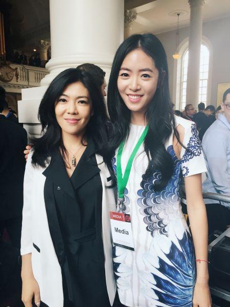 时尚集团总裁、《时尚芭莎》总编辑苏芒与新浪财经纽约站记者、评论员冯昊