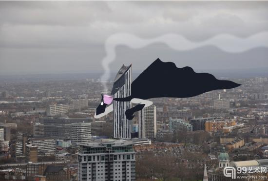 欢乐的法国艺术家在伦敦街头脑洞大开