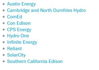 NEST的能源公司合作名单
