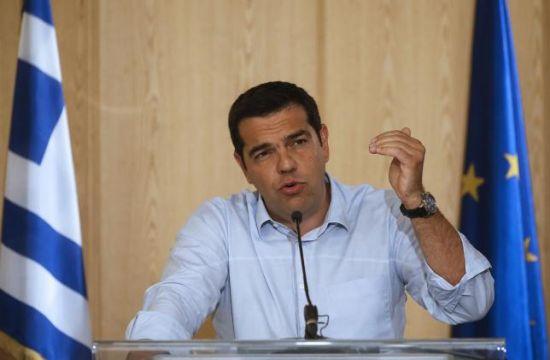 材料图像:希腊总理齐普拉斯。 REUTERS/CHRISTIAN HARTMANN