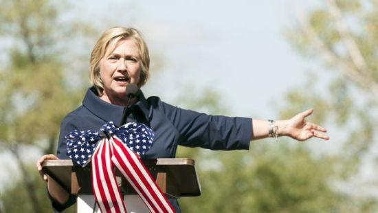9月7日,希拉里在伊利诺伊州发表演说