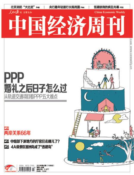中國經濟周刊第43期封面圖。