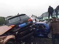 沪蓉高速共56辆车追尾 21名被困人员已全部救出