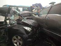 沪蓉高速发生重大车祸 50辆车连环相撞