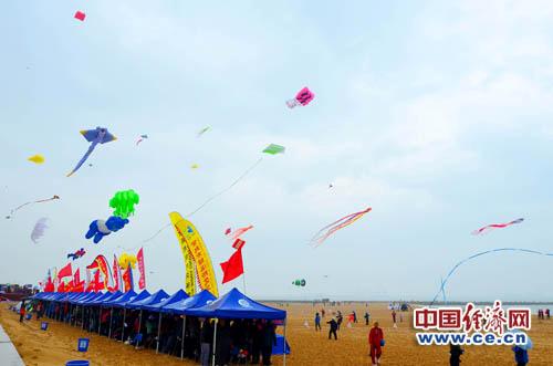 风筝会上的各个代表团。