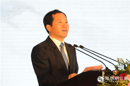 扬中市委书记潘早云致欢迎词
