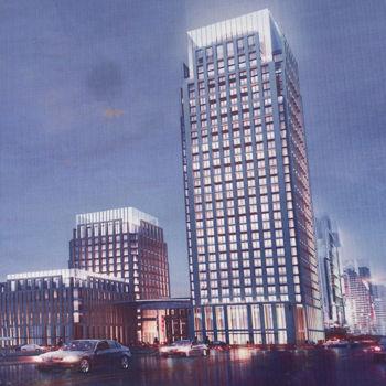 图为广东电网新建办公楼规划效果图