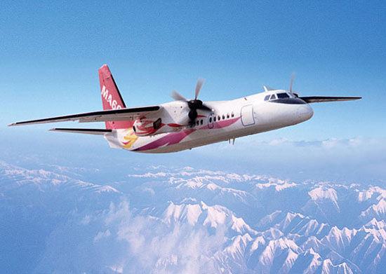 幸福航空新舟60飞机起落架故障迫降陕西榆林