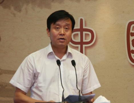 市委常委、宣传部长陈俊锋致答谢词
