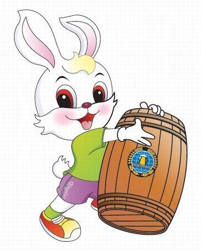 """第21届青岛国际啤酒节吉祥物:兔子""""朵朵""""(图)"""