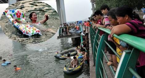 二十亿元治污保清 柳江河里百姓游得尽兴