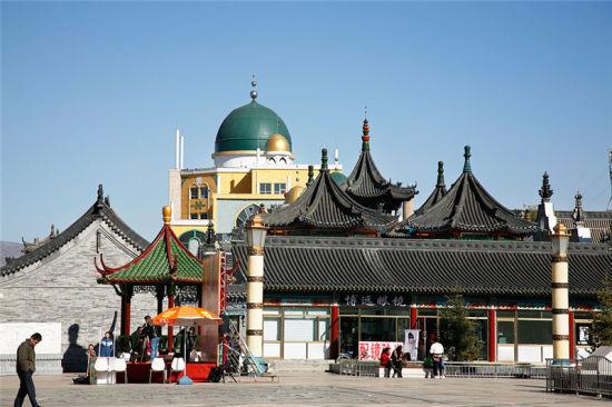 呼和浩特清真大寺古建筑优美完整