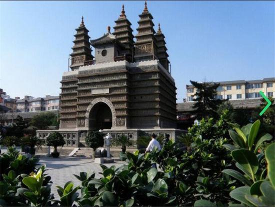 刻工精巧,玲珑秀丽是一座砖石结构的-教塔,和首都北京大真觉寺五塔