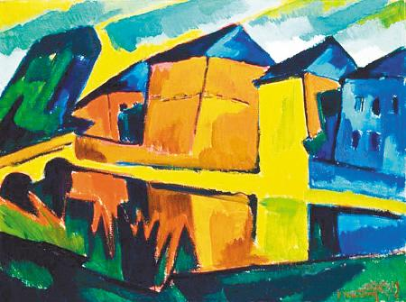 绘画内容和绘画技巧上,充分展示了德国风景画的艺术魅力,揭示了欧洲与