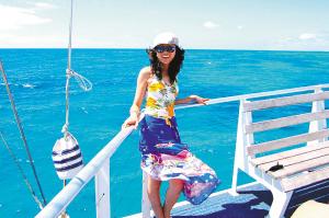 ■郝娜在澳大利亚大堡礁附近