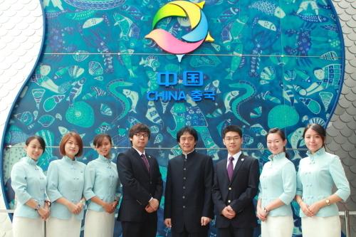 中国馆志愿者礼服闪耀韩国丽水世博会