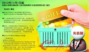 预付卡实名制1日起实施多商家仍可刷信用卡购卡