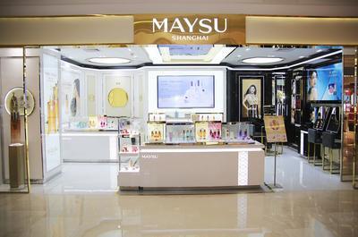 美素化妆品亲临南京梦想中央小P封面手绘专柜商场设计图老师进驻图片