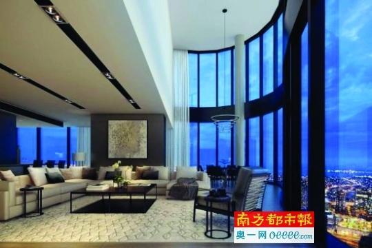 """←""""澳大利亚10 8""""顶层公寓室内效果图。网络图片"""