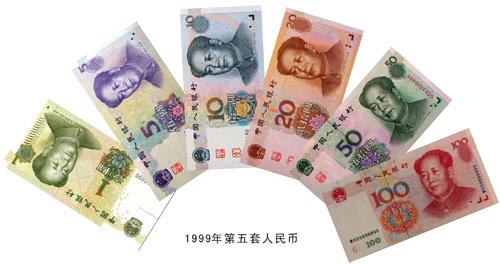图为第五套人民币