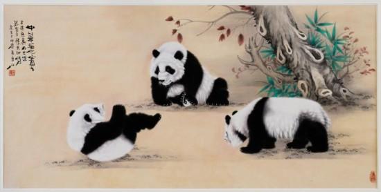 投资中国    而作为熊猫工笔画法的深耕者,吴长江的熊猫新作彰显着