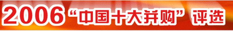 2006中国十大并购评选