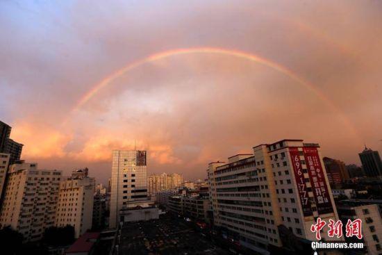 太原雨后双彩虹