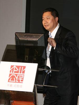 图文:联想集团副总裁杜建华先生做演讲