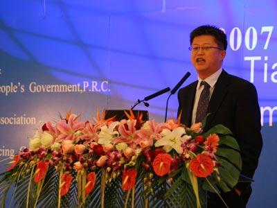 图文:万国数据总裁黄伟演讲