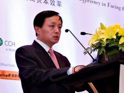 """""""2009中国首席财务官论坛""""在北京举行.图为中国建设银行首席财"""
