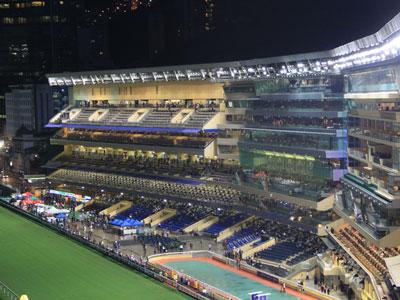 图文:香港赛马会跑马场看台
