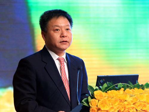 上海市副市长沈晓明致辞(来源:新浪财经 陈鑫 摄)