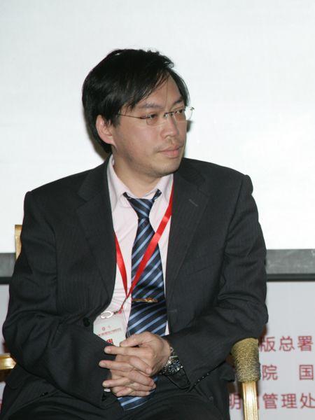 """""""第八届中国文化产业新年论坛""""于2011年1月8日-9日在北京召开。上图为台湾南华大学教授黄昱凯。(资料图片)"""