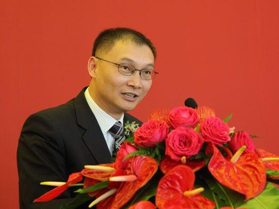 长沙中联重工科技发展股份有限公司品牌总监戴钢(图片来源:新浪财经 梁斌 摄)