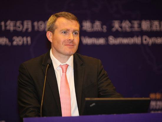 """""""2011中国金融高峰论坛""""于2011年5月18日-19日在北京举行。上图为安永亚太区金融服务管理合伙人包凯。(图片来源:新浪财经 梁斌 摄)"""
