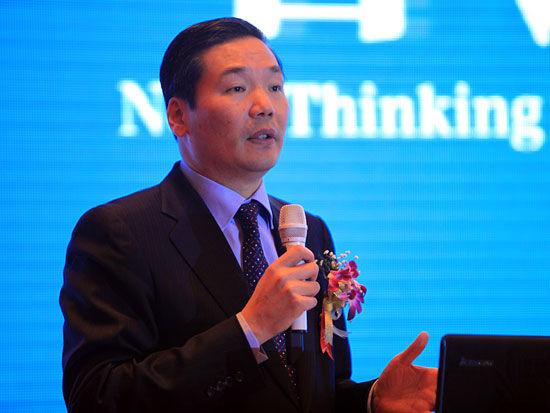 """""""2011中国CEO年会""""于2011年9月24日在北京举行。上图为Hay(合益)集团东北亚区总裁陈玮。(图片来源:新浪财经 梁斌 摄)"""