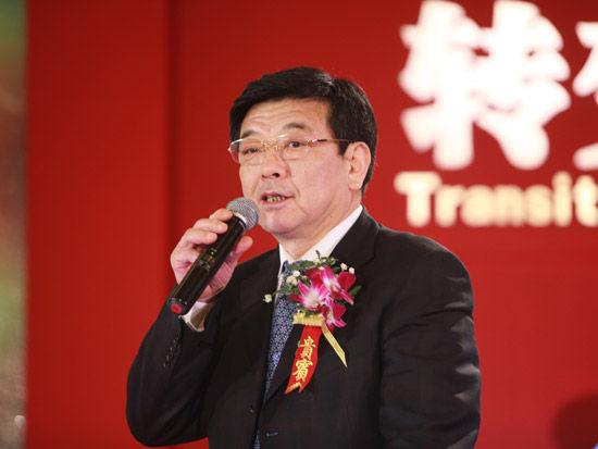 """""""第七届中国-企业社会责任国际论坛""""于2012年2月22日在北京举行。上图为中国石油化工集团公司党组成员、副总经理李春光。(图片来源:新浪财经 梁斌 摄)"""