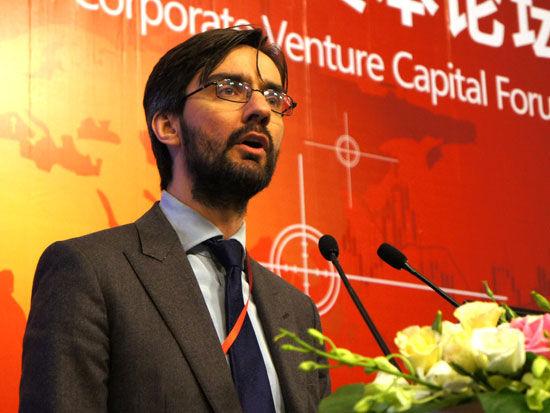 《全球企业风险投资》创始人詹姆斯・马森(新浪财经 战瑞琬 摄)