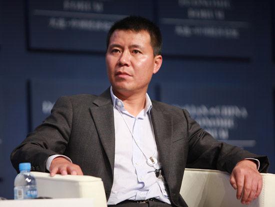 连举行.上图为均瑶集团总裁王均豪.(图片来源:新浪财经 梁斌