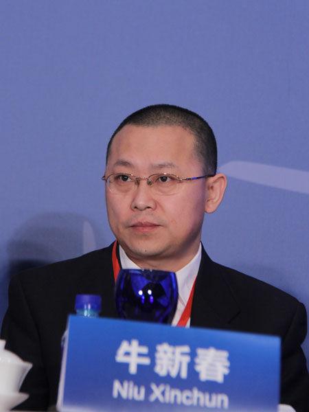 2013年3月2日,三一集团美国风电项目诉讼案第一次庭审情况媒体说明会在北京举行。图为中国现代国际关系研究院研究员牛新春。