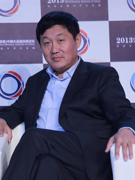 """""""2013中国大金融高峰论坛""""于10月16日在北京举行。上图为北京产权交易所董事长熊焰。(图片来源:新浪财经 梁斌 摄)"""