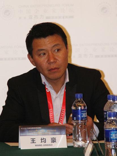 图为:均瑶集团有限公司总裁王均豪。(图片来源:新浪财经 骆霄 摄)