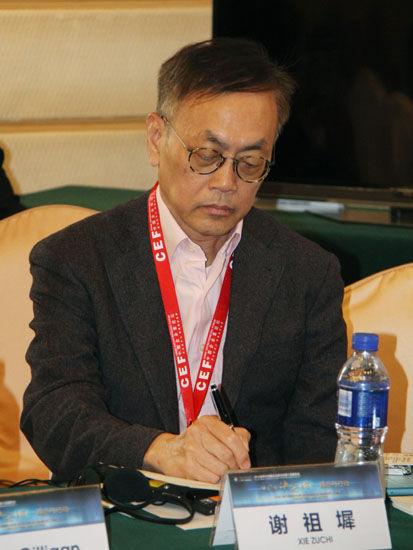 图为:著名战略管理顾问谢祖墀。(图片来源:新浪财经 骆霄 摄)