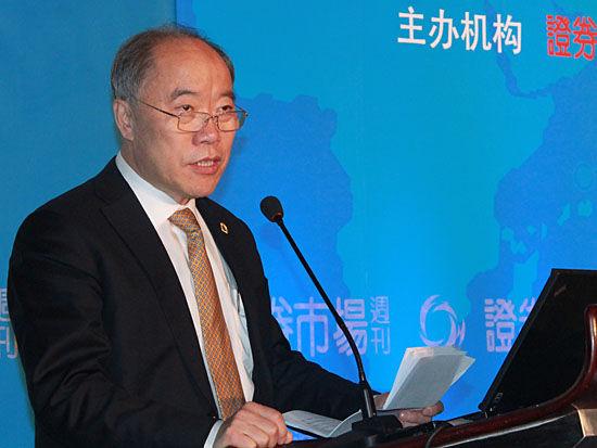 图为中国银河证券董事长陈有安。(图片来源:新浪财经 刘海伟 摄)