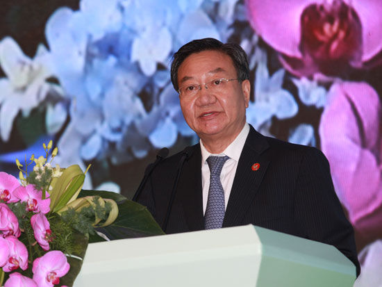 """""""第八届中国-拉美企业家高峰会""""于2014年9月12日-13日在湖南长沙举行。上图为中国贸促会会长姜增伟。(图片来源:新浪财经)"""